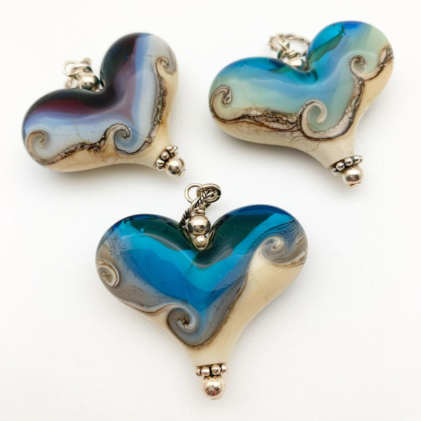 Pendant - Beach Heart - Large