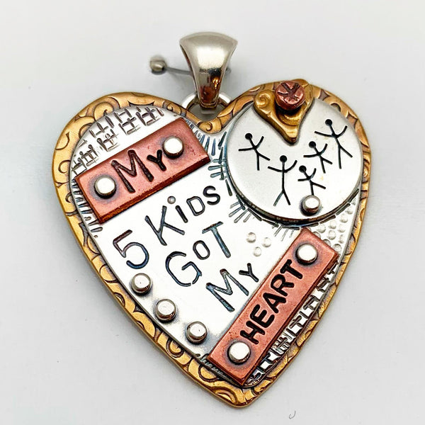 """Family"" Pendant Collection - Hearts"