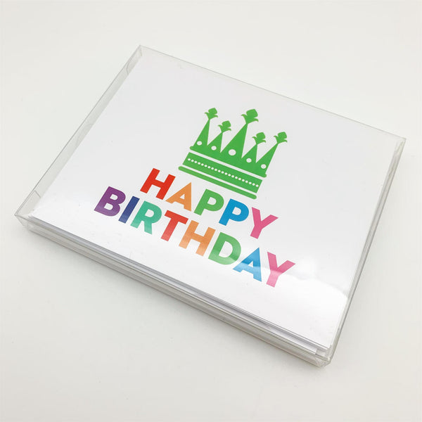 "Card Set - ""Happy Birthday"" Crown - 10-pack"
