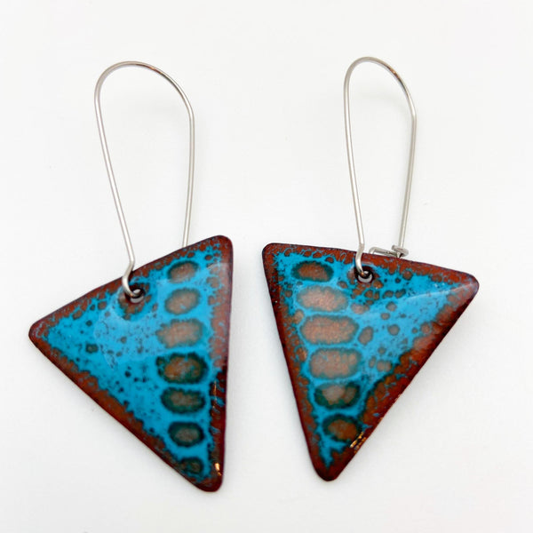 Earrings - Enamel Originals - Triangles