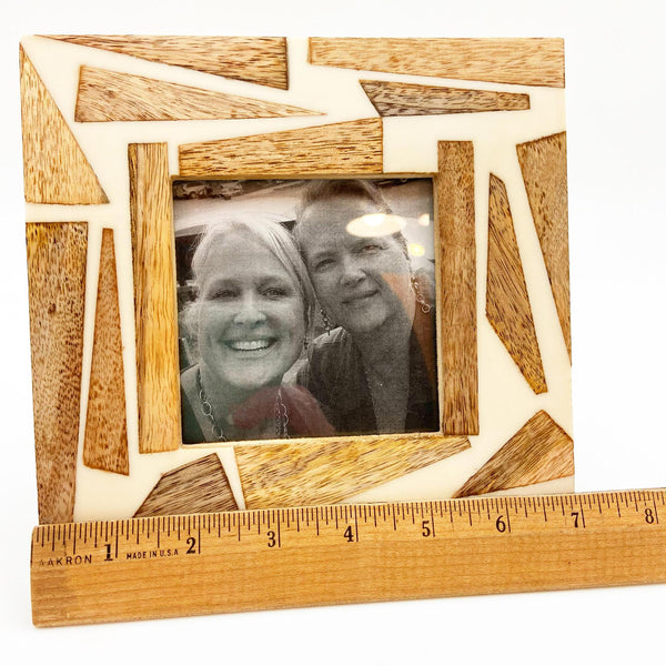 Photo Frame - Wood & Resin Square