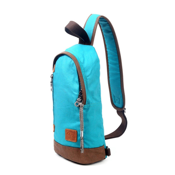 Sling Bag - Coated Canvas with Padded Strap