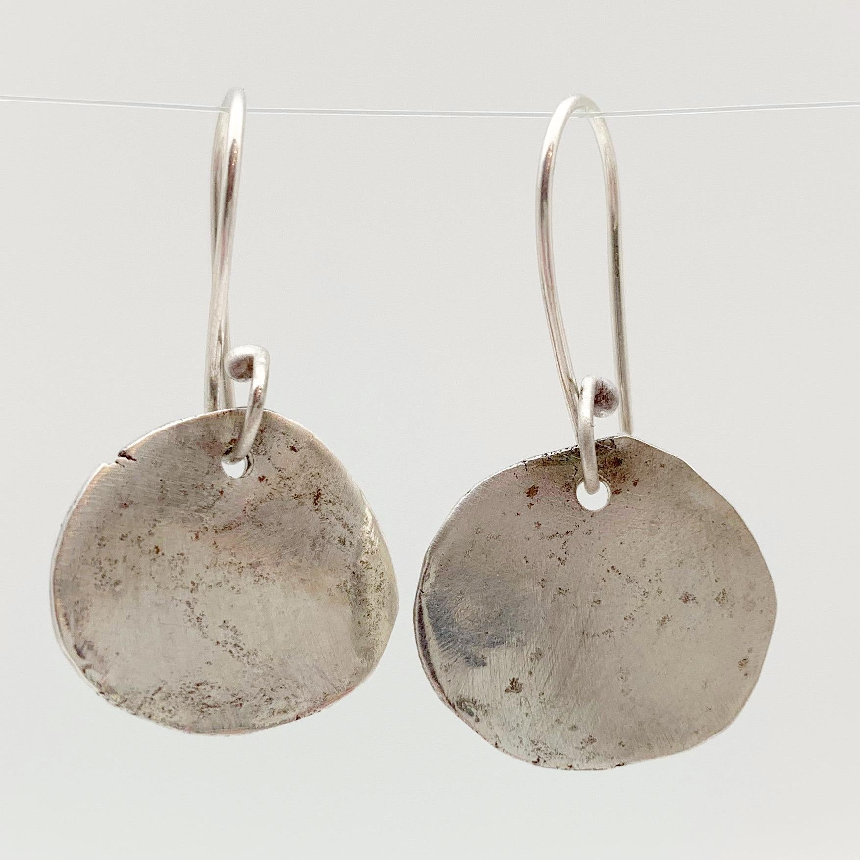 Earrings - Sterling Free Form Medallions