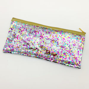 Zippered Pouch - Confetti Cosmetic Bag