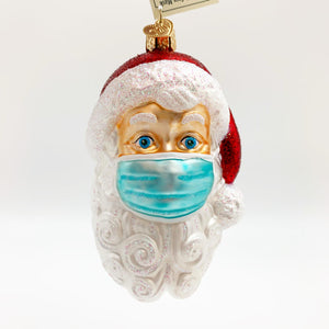 Ornament - Blown Glass - Masked Santa