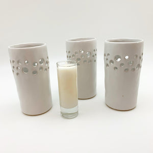 Candle Holder - Pierced Ceramic