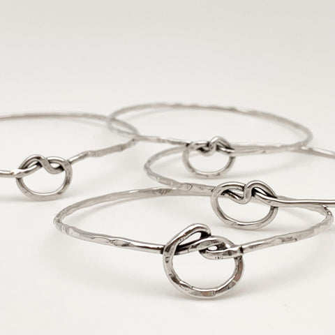The Gladys Bangle - Handmade Sterling Silver