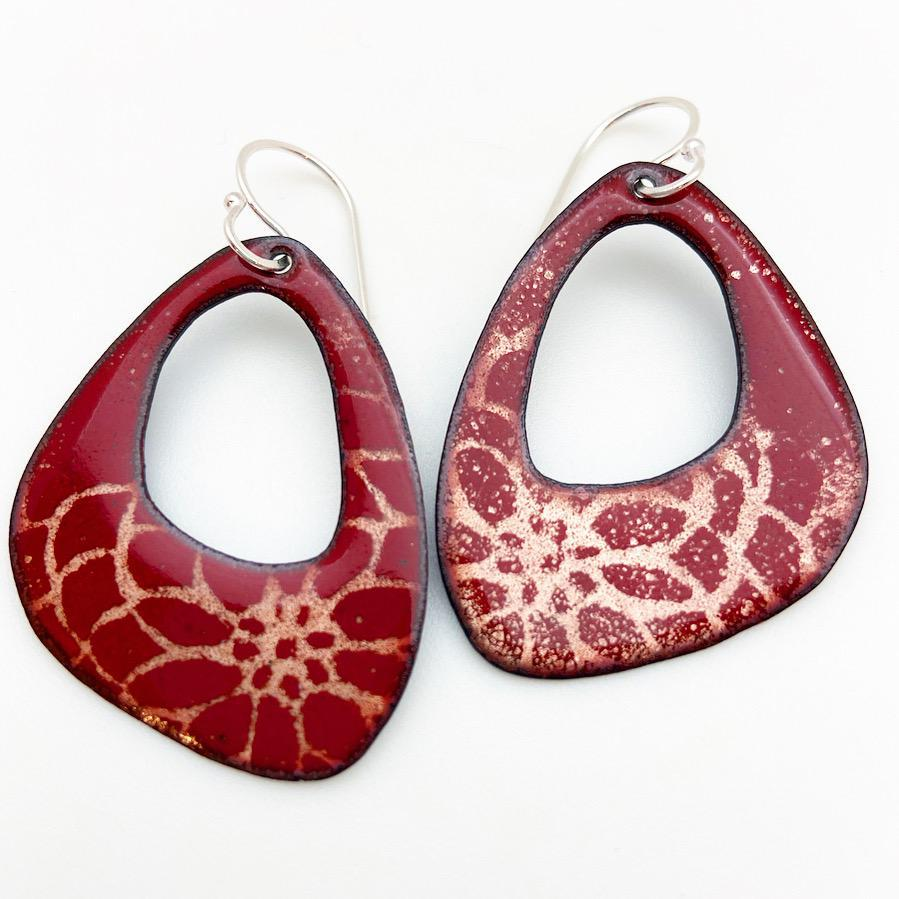 Earrings - Enamel Originals - Center-Cut Curved Triangles