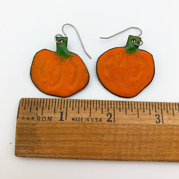 Earrings - Enamel Originals - Ridged Pumpkins