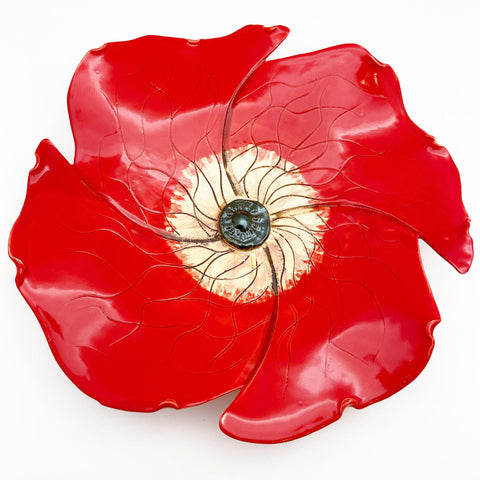Ceramic Wall Art - Poppy - Medium