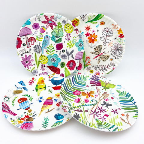 "Plate - Melamine ""Paper Plate"" - Happy Nature"