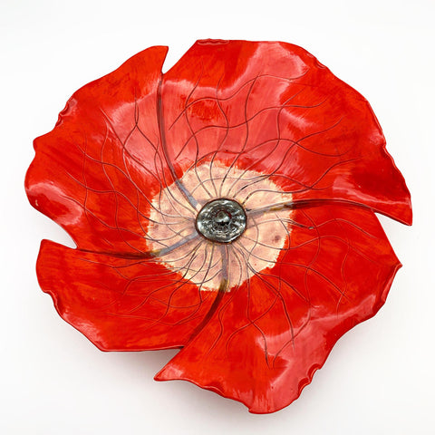 Art - Ceramic Poppy - Medium