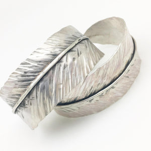 "Bracelet - Sterling ""Feather"" Cuff - Handmade"