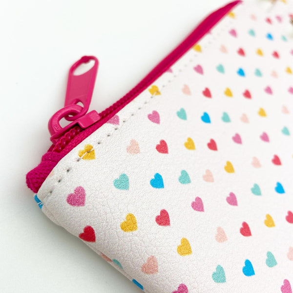 Coin Pouch w/ Keyring - Tiny Hearts