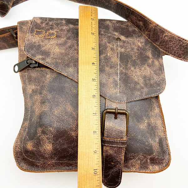 Leather Crossbody Bag - Eco-Friendly Vegetable Tanned