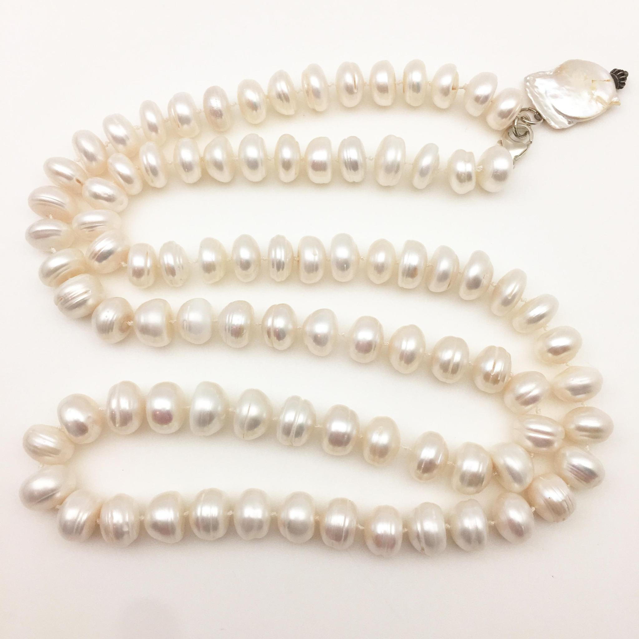 Necklace - Coin Pearl and Biwa Pearl