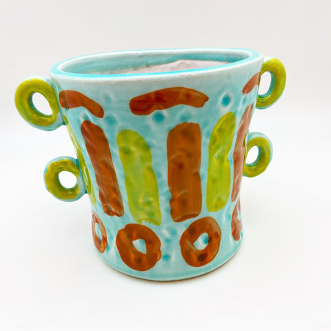 Pot - Hand Painted Terracotta - Medium