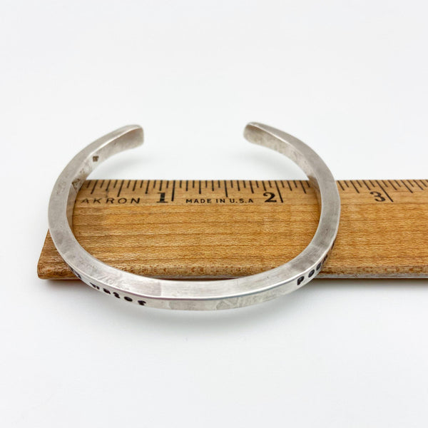 Bracelet - Sterling with Quotes - Cuff