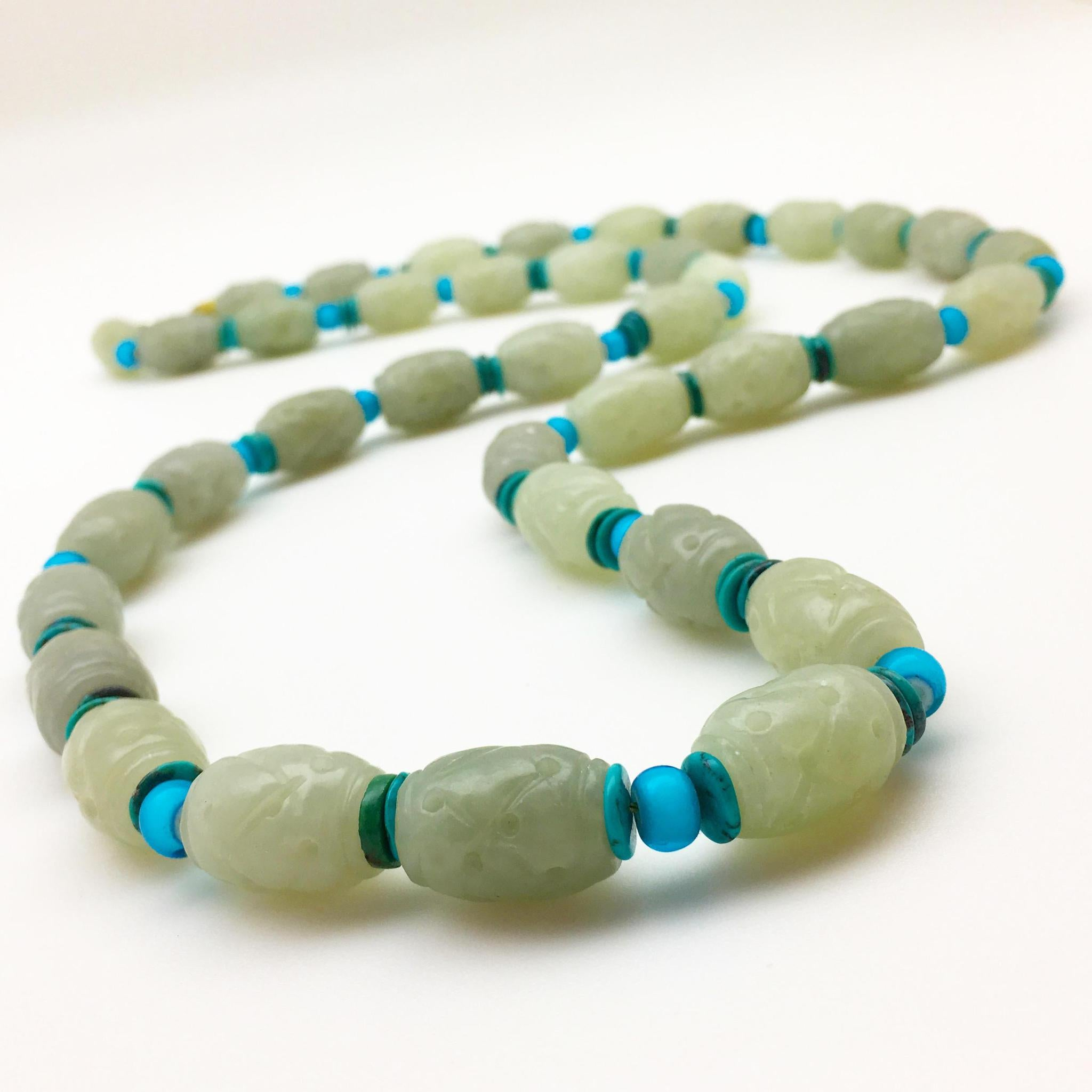 Necklace - Turquoise and Jade