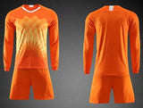 blank Top Football Jerseys Men kids soccer jerseys set Winter Soccer Jersey uniforms Adult Long
