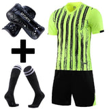Men Soccer Jerseys Football Training Suit Costume survetement  Adults Kids Plain Soccer Jersey