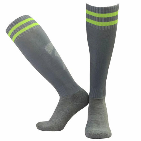 Women Men Kids Sports Soccer Socks Anti Slip Football Running Long Stocking Over Knee High Quality