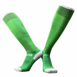 Anti-Slip Football Socks Men kid Summer Running Cotton and Rubber Socks High Knee Long Stocking Men