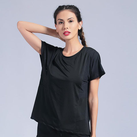 Women's T Shirts Loose T-shirts Solid Soft Sports Tops Women Yoga Top Fitness Seamless Jersey Woman