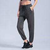 Yoga Pants Loose Leggins Elastic Drawstring Loose Pink Running Pants Hot Sweat Trousers Female