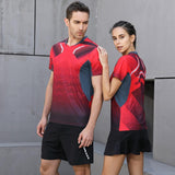 New Badminton shirt Sportswear Men/Women Tennis shirt,gym sport clothing badminton T-shirt,Qucik dry