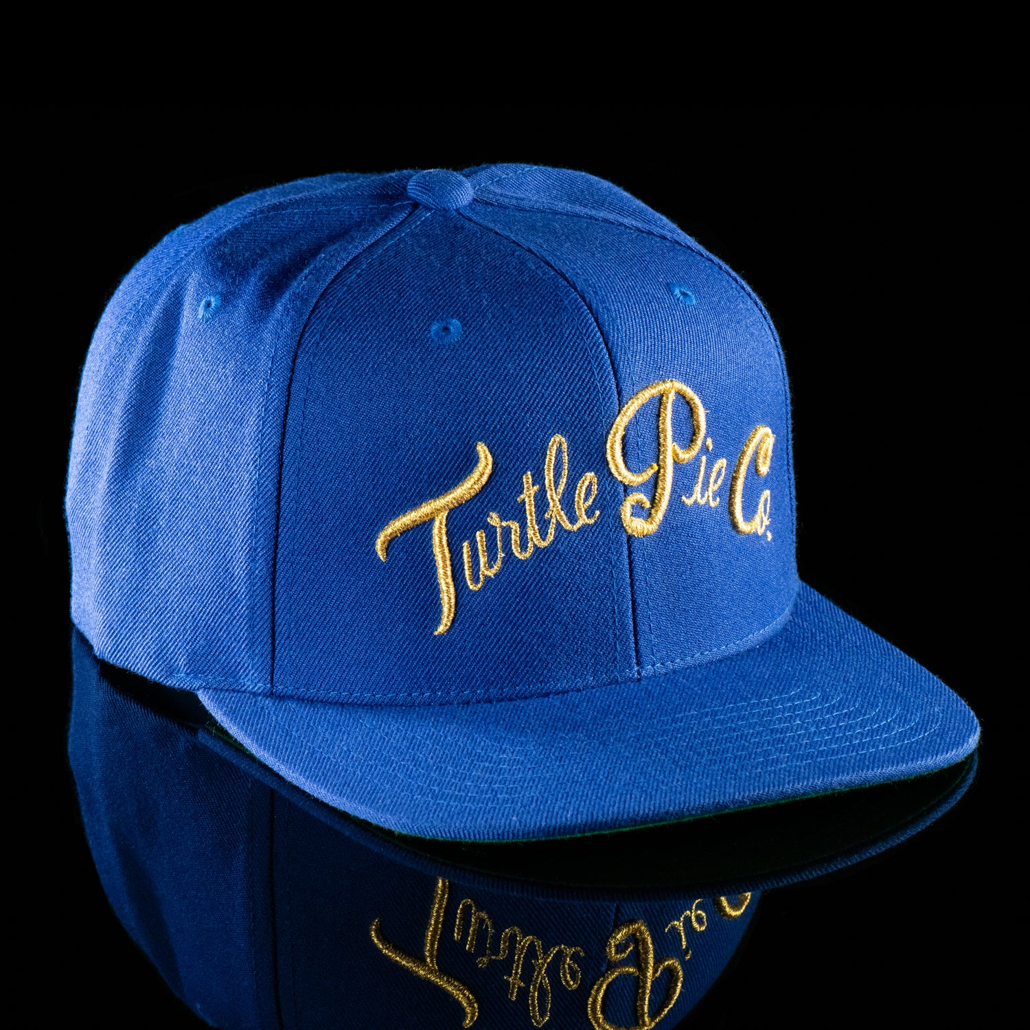 Turtle Pie Co Snapback Hat - Yellow On Dodger Blue