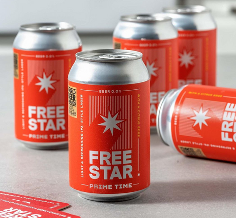 Freestar - Non-Alcoholic Beer - Better For the Planet - Buy at Lassou