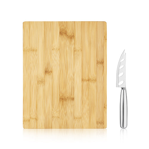bamboo board and knife set