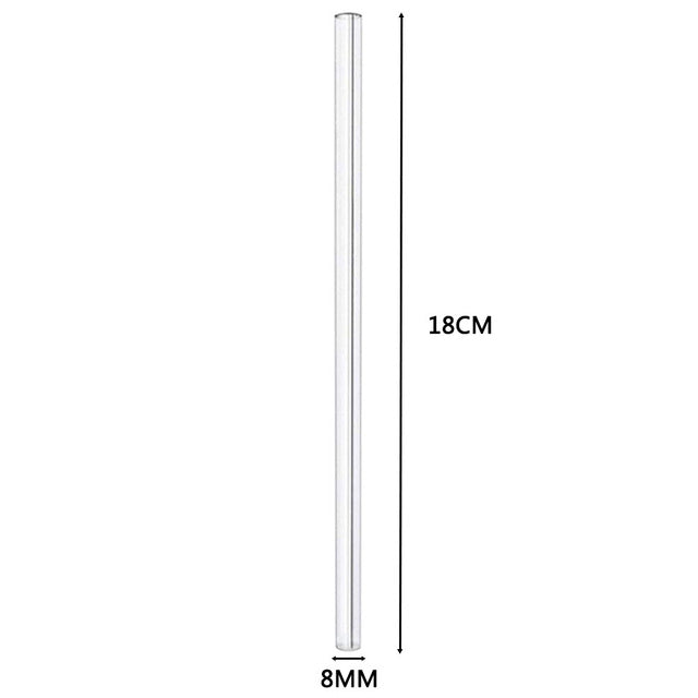 measurements of glass drinking straw