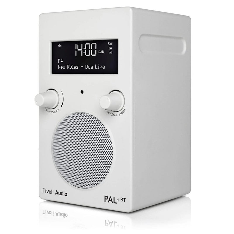 Tivoli PAL+ BT (gen 2) Bluetooth® / DAB / FM Portable Radio white angle