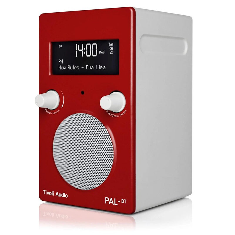 Tivoli PAL+ BT (gen 2) Bluetooth® / DAB / FM Portable Radio red angle