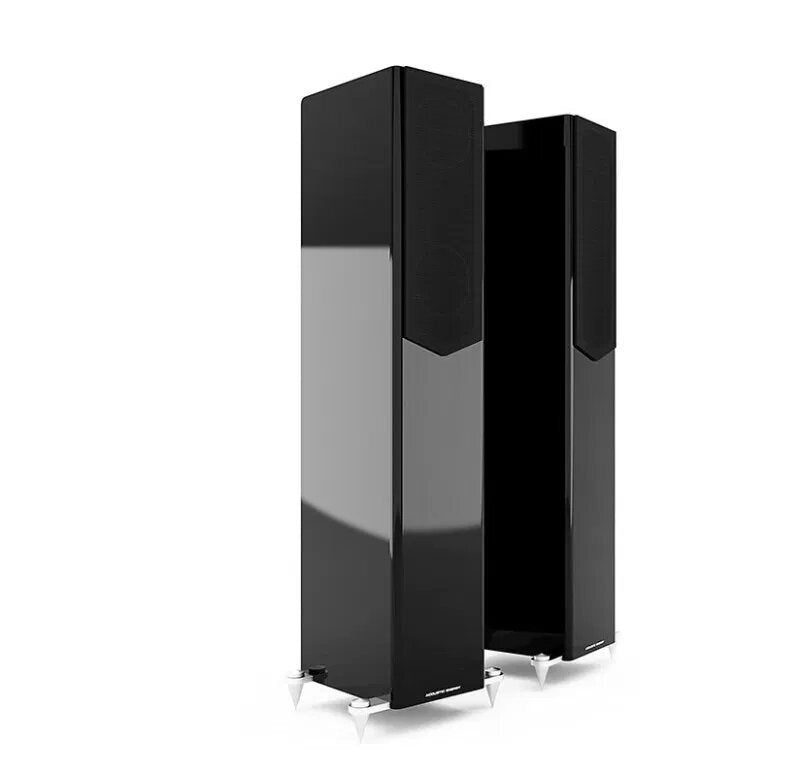 Acoustic Energy AE509 Floorstander Speakers piano black with grille