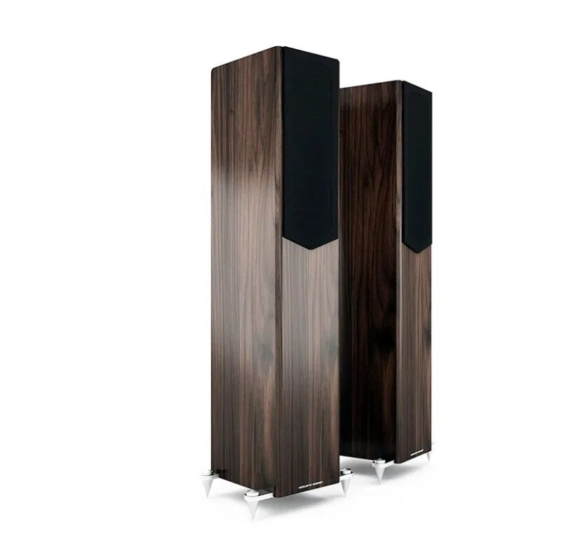 Acoustic Energy AE509 Floorstander Speakers walnut with grille