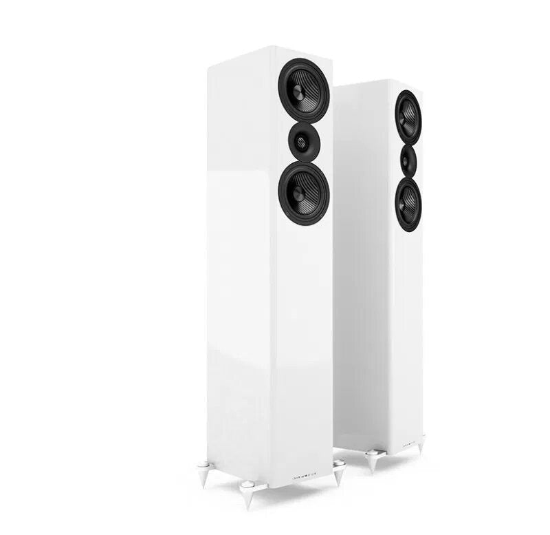Acoustic Energy AE509 Floorstander Speakers piano white