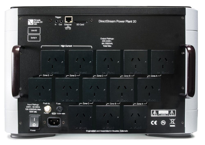 PS Audio DirectStream Power Plant P20 rear view Type I