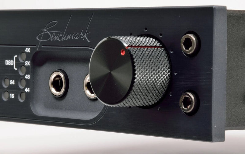 Black Benchmark DAC3 DX - Digital to Analog Audio Converter close up