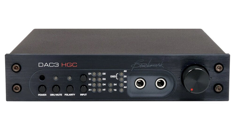 Black Benchmark DAC3 HGC - Digital to Analog Audio Converter front view