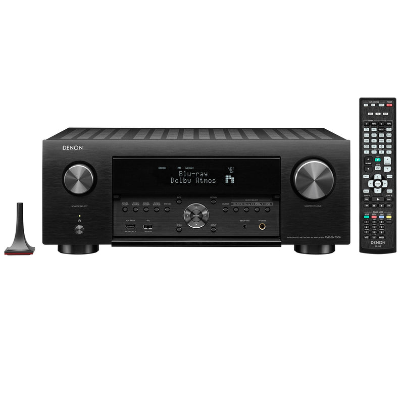 Denon AVC-X4700H 9.2ch 8K AV Amplifier with 3D Audio, HEOS Built-in and Voice Control