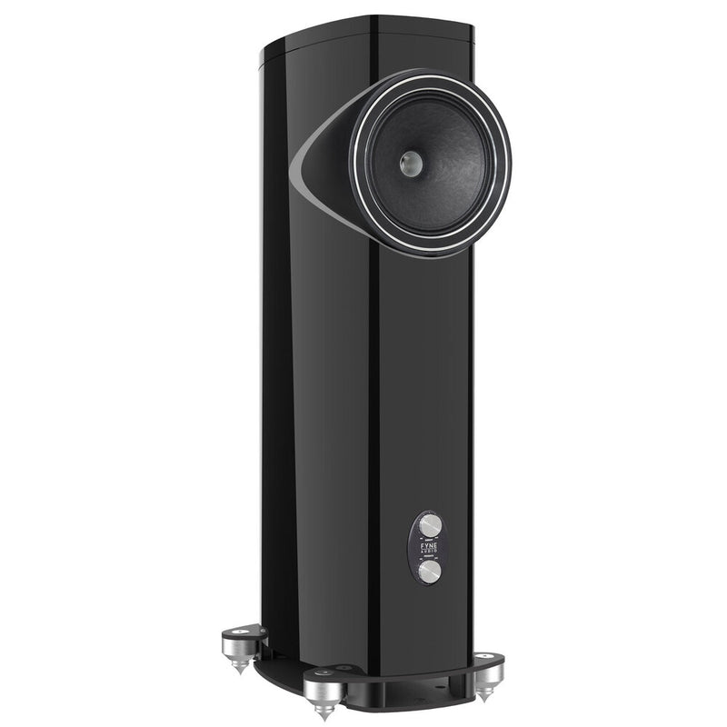 Fyne Audio F1-12 Floorstanding Speakers gloss black side