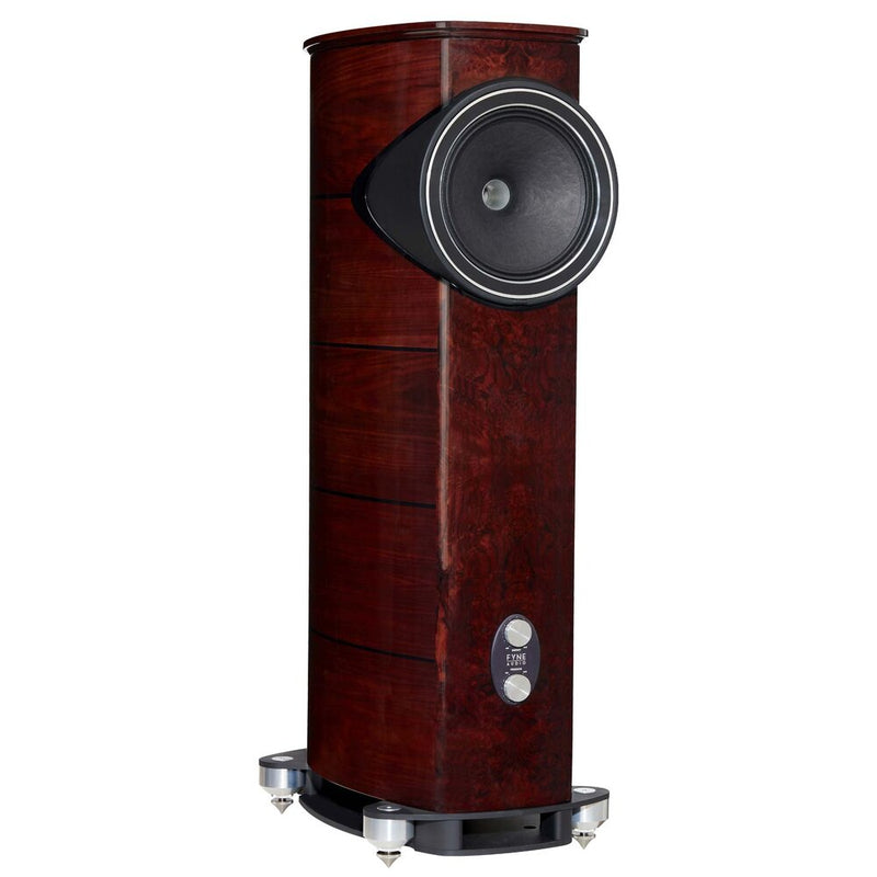 Fyne Audio F1-12 Floorstanding Speakers gloss walnut side
