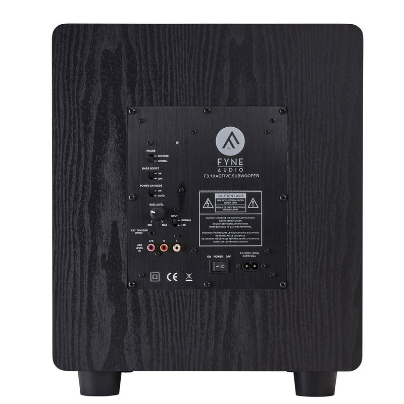 Fyne Audio F3-10 Active Subwoofer rear