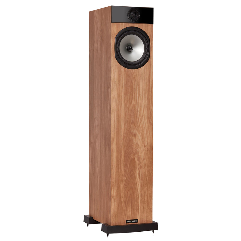 Fyne Audio F302 Floorstanding Speakers light oak side