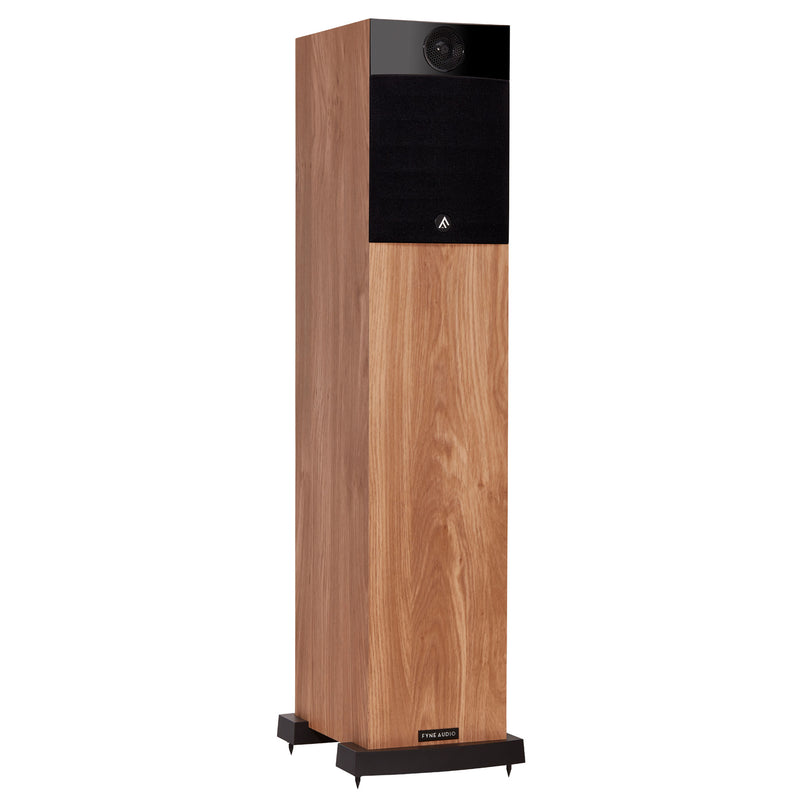 Fyne Audio F302 Floorstanding Speakers light oak with grille