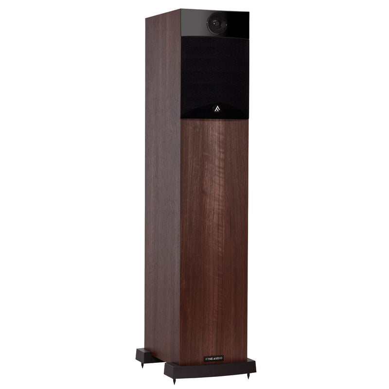 Fyne Audio F302 Floorstanding Speakers walnut with grille
