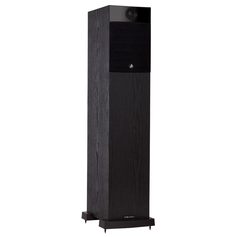 Fyne Audio F302 Floorstanding Speakers black ash with grille